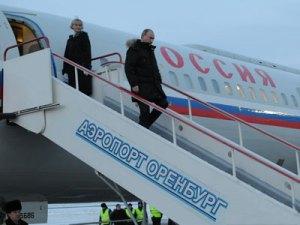 Владимир Путин в аэропортеОренбурга