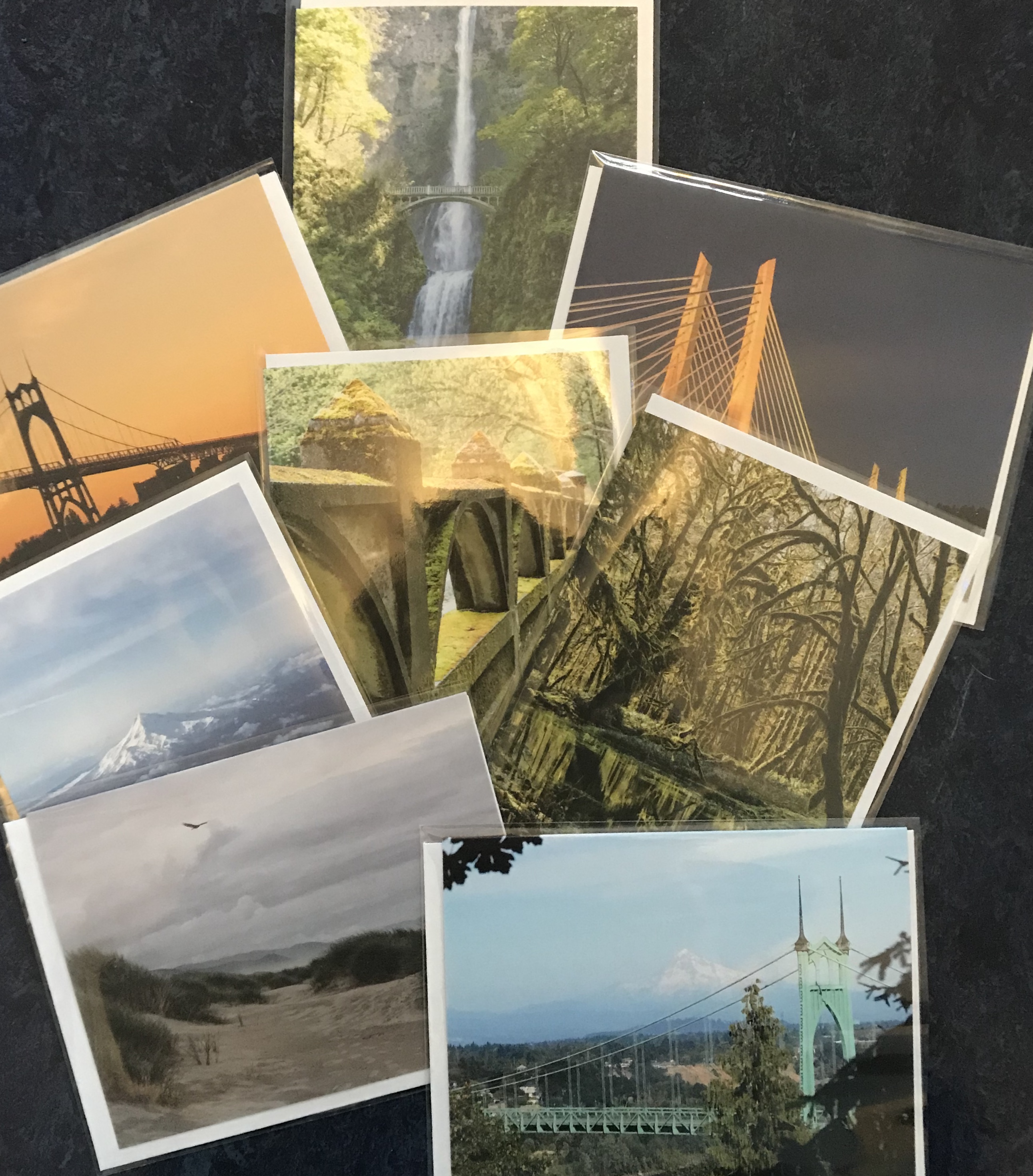 Collection of photographs of Portland bridges and locations.