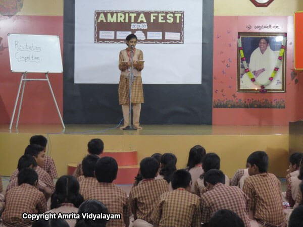 Amrita Fest - Recitation Competition 2019 -