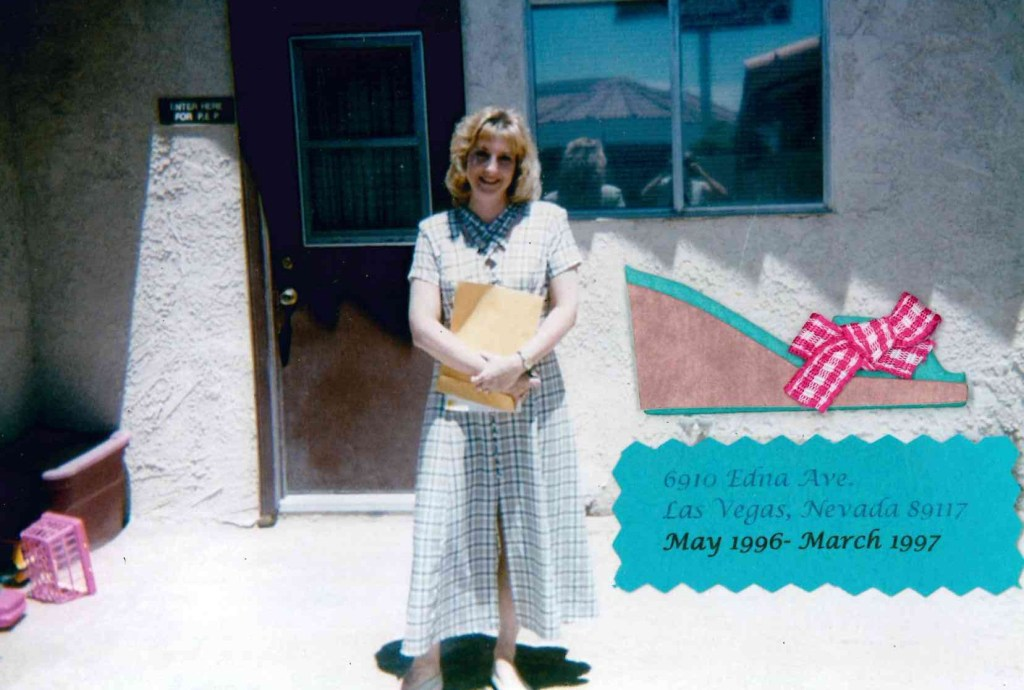 Karen Taycher in front of the first Nevada PEP office