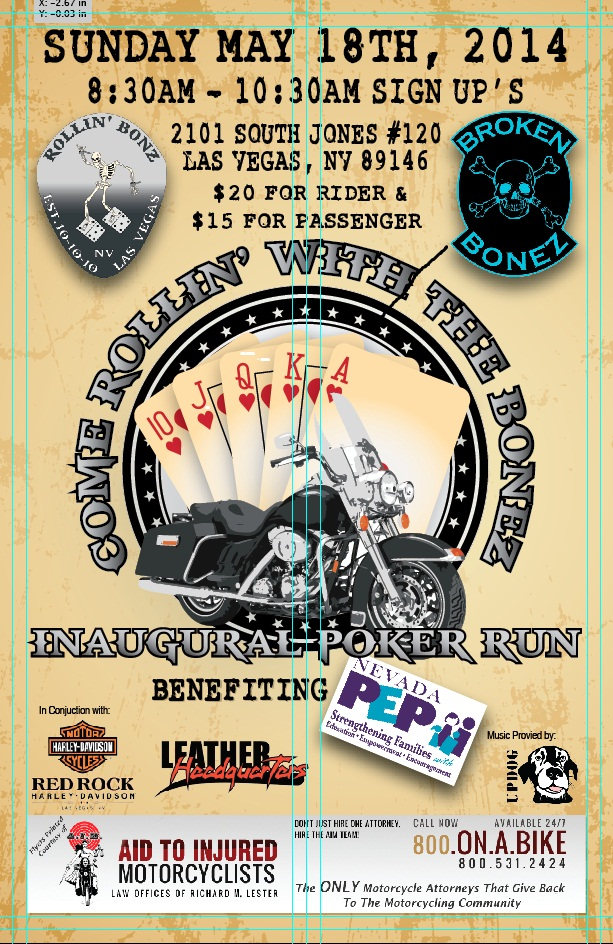 Flyer for the 2014 Inaugural Poker Run