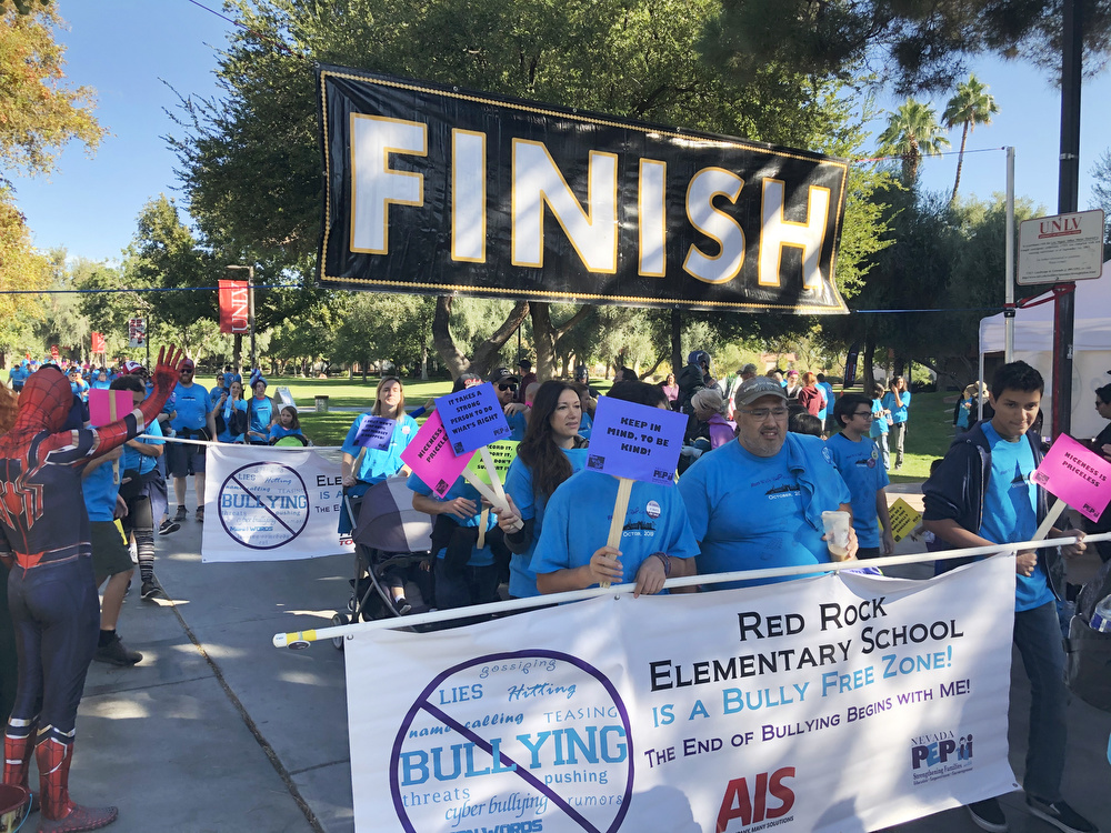 Red Rock Elementary participating in the Run Walk Roll Event