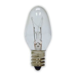 C7 Clear Incandescent Pack of 25
