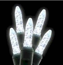 M5 70L Icicle Lights Pure White GREEN WIRE