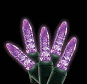 M5 70L Icicle Lights Purple GREEN WIRE