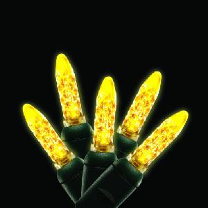 M5 Icicle lights 70L Yellow GREEN WIRE