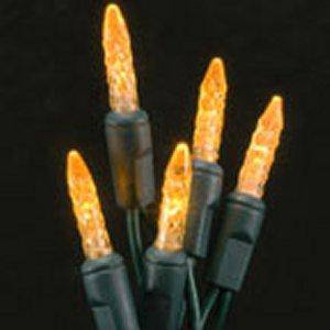 Orange M5 Icicle (70 count) Green wire