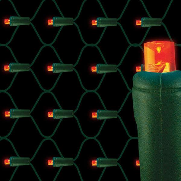 5mm LED net lights 70L Orange