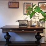 アンティーク イギリス製 ダイニングテーブル デスク 引き出し3杯 事務机