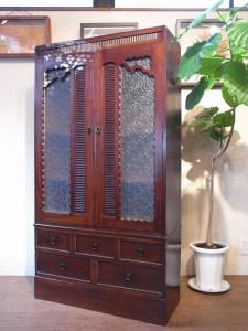 アンティーク レトロ 造りの良いキャビネット 本箱 本棚 飾り棚 食器棚