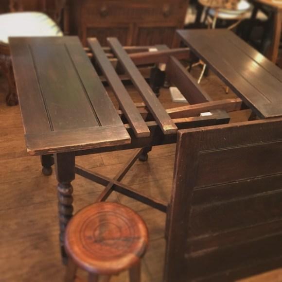 アンティーク,ヴィンテージ,小ぶり,小さい,ドローリーフテーブル