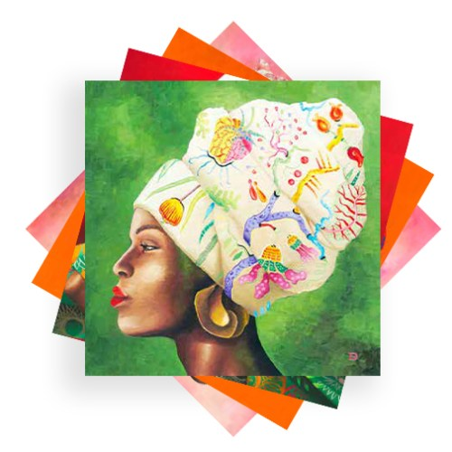 African Woman 4 Pack Cards set