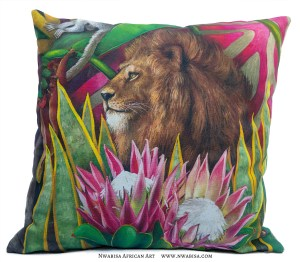 Pillow African Jungle Lion
