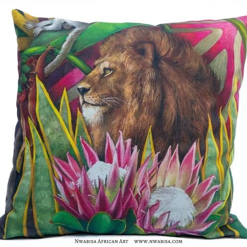 Pillow African Jungle Lion
