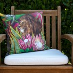 African Jungle: Lion Pillow Cover