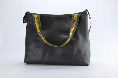 N&N Big Bag 2 Yellow bow rear one strap down colourful 2000pix