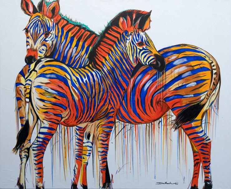 Zebra Pair Blue Orange