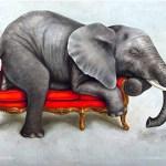 Wildlife at Leisure: Elephant Fridge Magnet