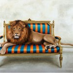 Wildlife at Leisure: Lion Fridge Magnet