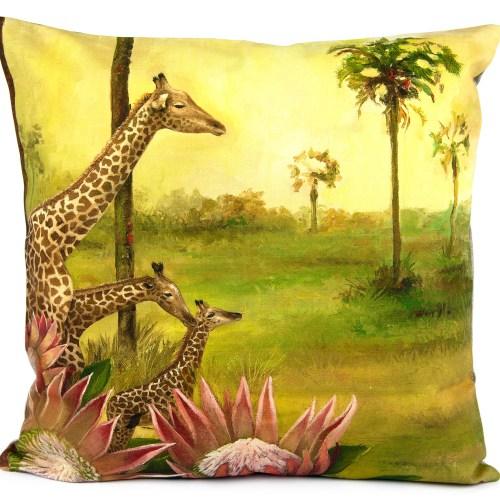 African Spirit: Giraffe Pillow Cover