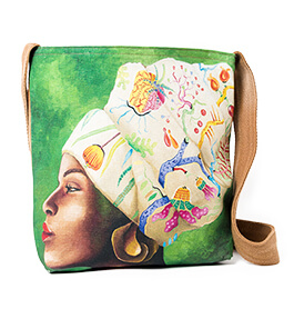 WhimsicalCollection African Women Sling Bag Floral headpiece
