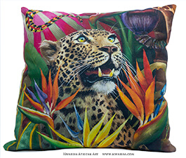 WhimsicalCollection African Jungle pillow case Leopard