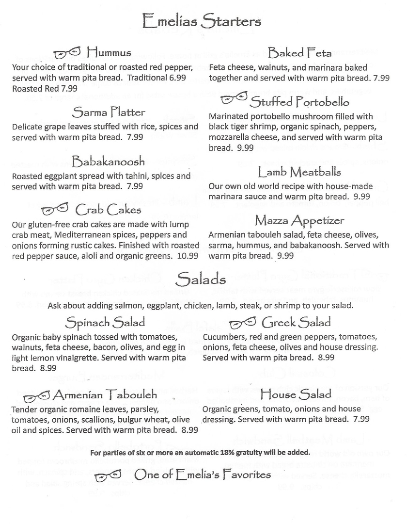 Emelia\'s Kitchen Fayetteville - Menu and Review - NWA Food