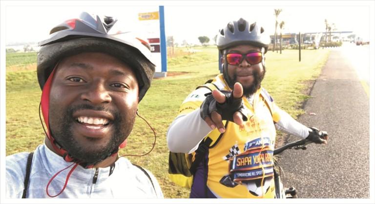 Cycling for charity with Ntwanano Ngobeni 5