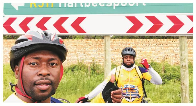 Cycling for charity with Ntwanano Ngobeni 6