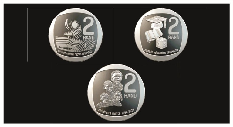 The new look R2 and R5 South African coins! 2