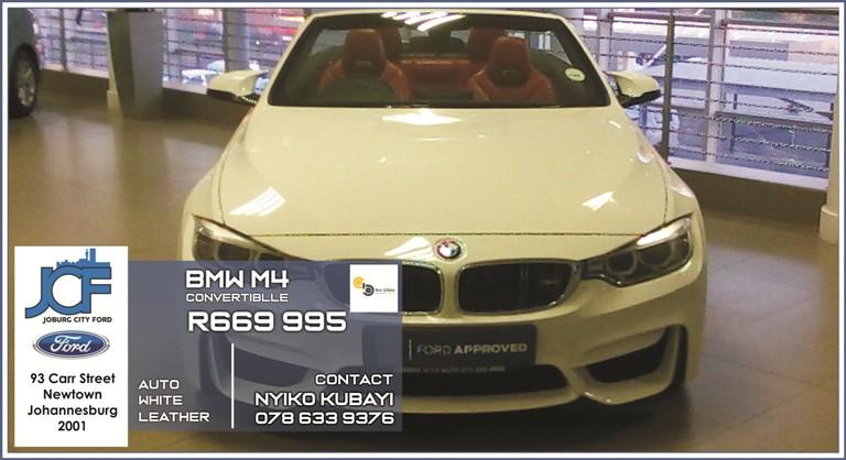 BMW M4 Convertible at Joburg City Ford