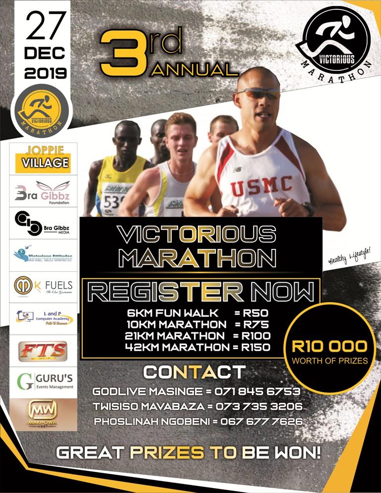All roads lead to Victorious Marathon 2019 at Joppie Village 1