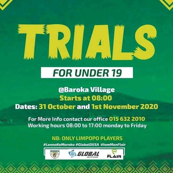 Baroka FC to host Trials