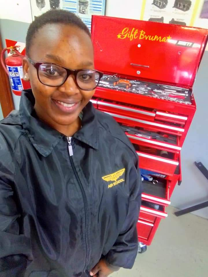 Meet Gift Bvuma from Xihoko, An Aircraft Mechanic Whose In A Journey To Service South Africa's Air Wings