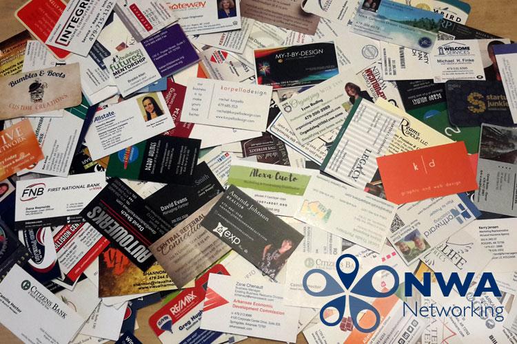 Business card clutter