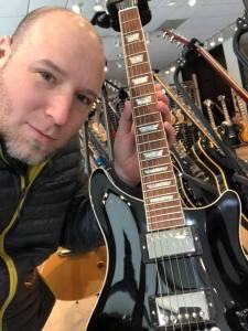 Nathan with Guitars