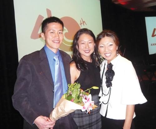 From left to right: InterIm fund development intern William Chen, InterIm Fund Development Coordinator Nancy Ko, and InterIm Executive Director Hyeok Kim.