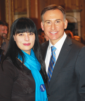 Dow Constantine with girlfriend, Shirley Carlson, who is half-Japanese. They met when they were students at the University of Washington. (Photo by George Liu/NWAW)