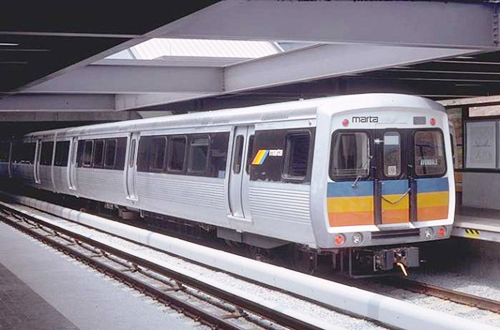 One of Metropolitan Atlanta Rapid Transit Authority's (MARTA) trains arrives at a station. MARTA recently came under fire for naming one if its rail lines the Yellow Line. The line runs through an area that is heavily populated by Asians. (Photo provided by sagalradio.org)