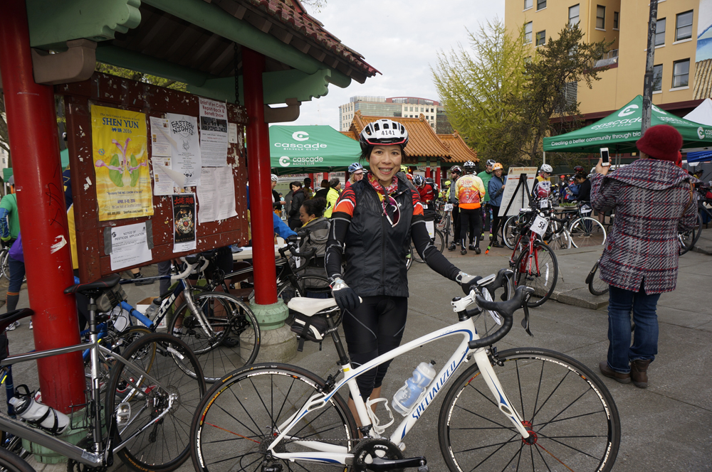 Emerald City Bike Ride participant, Ivy Cheung from Taiwan.