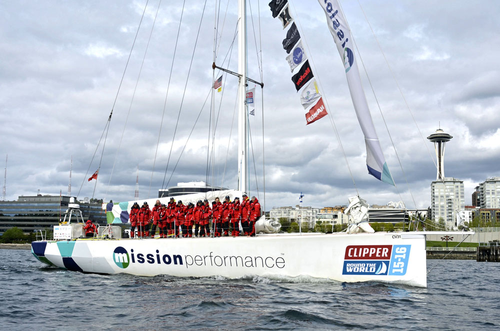 Mission Performance arrives in Seattle. (Photo provided by Clipper Race)