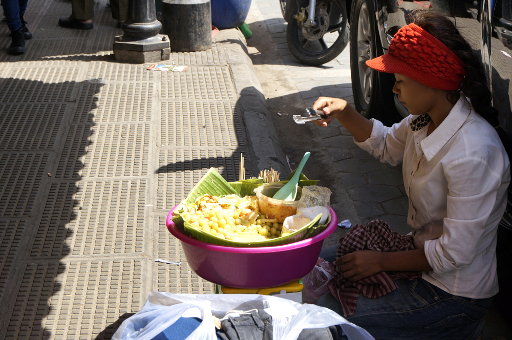 Street food in Cambodia: gooseberry pickle (Photo by George Liu/NWAW)