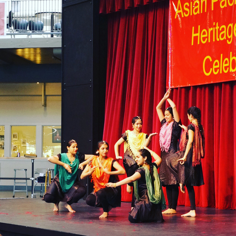 Natya, the University of Washington's premiere Indian Classical dance team, performs. (Photo by Assunta Ng/NWAW)