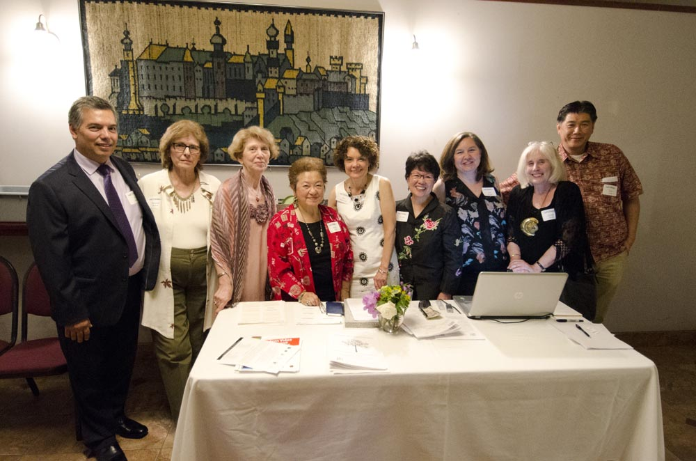 From left: Ethnic Heritage Council committee members Tino Salud, Rosanne Royer, Yasemin San, Bettie Luke, Jane Simmons, JoAnne Lee (president), Ann Wright, JoAnne Rudo, and Peter Lam.