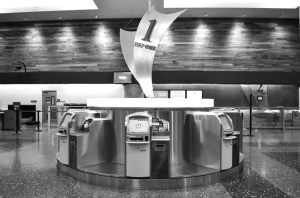 Self-serve machines at Honolulu International Airport
