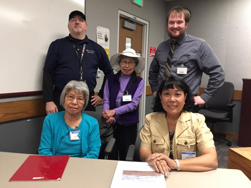 Front row (from left): Lilly Kato, Eileen Yamada Lamphere. Back row (from left): Allan Reiten, Amy Kato, and Zach Van Tassel. (Photo provided by Eileen Yamada Lamphere)