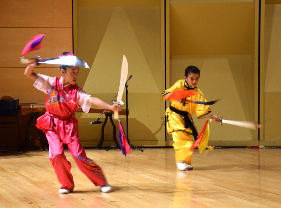 Wushu Double Broadsword, performed by Ava Yu and Altti Koskinen of the Chinese Wushu & Taichi Academy and U.S. Wushu Center.