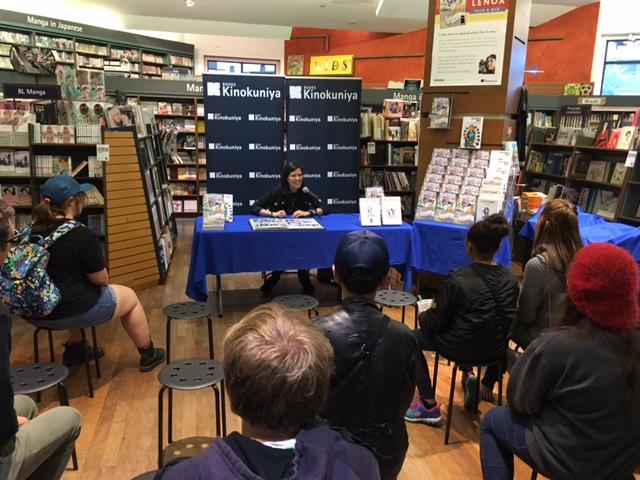 Emi Lenox's Q&A at Kinokuniya Book Store