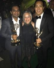 From left: Aziz Ansari, Maureen Wittels, and Alan Yang.