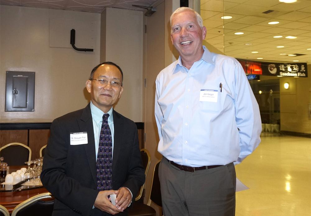 Dr. Shouan Pan and Jonathan Geiger
